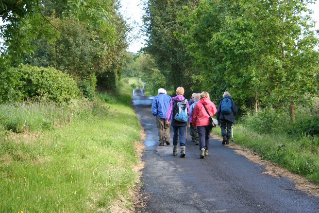 Walkers in Threepwood Lane