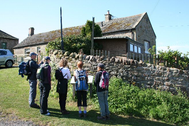 Walkers at John Martin's Birthplace