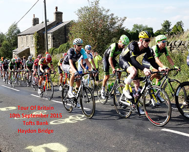 Tour of Britain 2015 Haydon Bridge Tofts Bank KOM